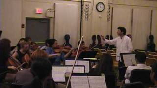 Mannes Philharmonia, Ronald Braunstein rehearsing Beethoven 7th Symphony, 2nd movement, 2007