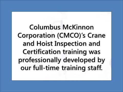 Crane Inspection Checklist: CMCO Certified Inspectors | American Crane
