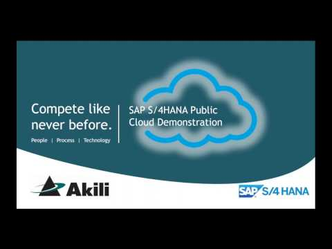 SAP S/4HANA Cloud Demonstration with Akili