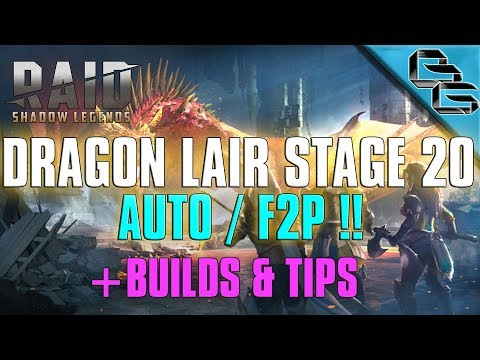 RAID: Shadow Legends | Dragon's Lair Stage 20 on Auto | + Builds & Tips | F2P First !?!?