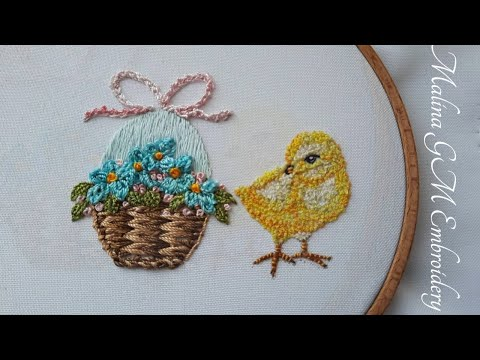 Easter Chicken  How to Embroider a Chicken   Easy Embroidery