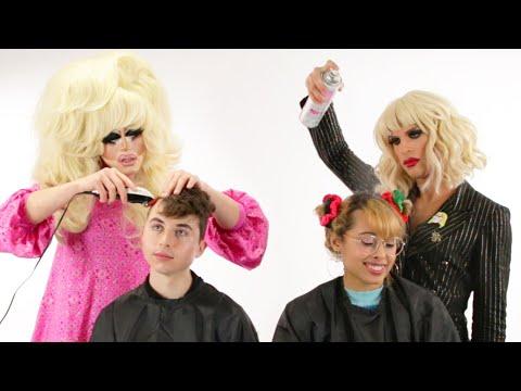 Trixie And Katya Give People Haircuts