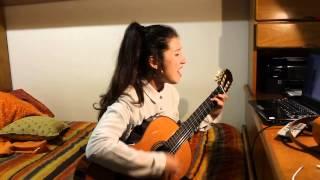 Sara Margarida a cantar Angel