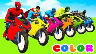 MotorCycles COLOR for Babies in Cars Cartoon & Superheroes for kids width=