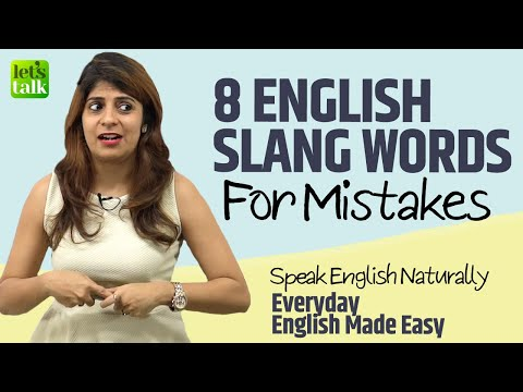Learn English Slang Words For Mistakes   Speak English Naturally   English Lessons By Niharika