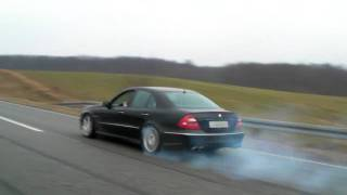 E 55 AMG with Kleemann 55-K2 tuning, power burnout