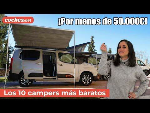 Los 10 CAMPERS más baratos | Análisis / Reportaje / Review en español | coches.net