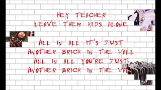 Pink Floyd - Another Brick in the Wall pt. 2 (drums + bass track with lyrics)