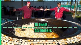 Asia's Biggest Frying Pan! Over 3,000 POUNDS of Rice and Meat Cooked Each Day! width=