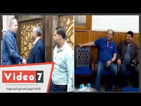 شوبير وخالد جلال والعتال ونجوم الرياضة فى عزاء شقيقة محمود أبو رجيلة
