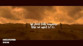 (FULL COVER LYRICS) Jungkook (BTS 방탄소년단 - 전정국) - We Don't Talk Anymore LYRICS (Charlie Puth Cover)
