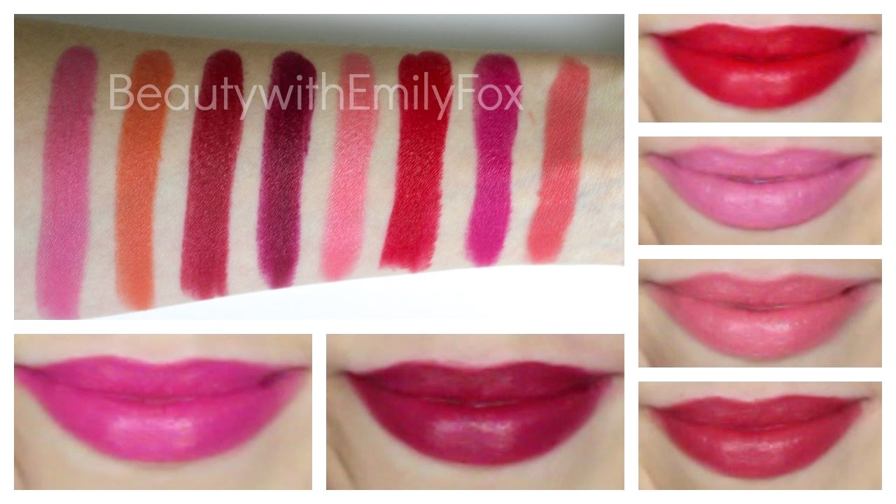 Rimmel Lasting Finish by Kate Moss Lipstick + Lip Swatches Part #3