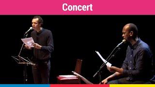 """""""Petit Pays"""", lecture musicale avec Gaël Faye et Samuel Kamanzi à l'Institut français de Casablanca"""