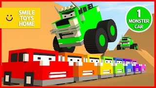 Monster Car | Learn Colors With Green Monster Truck For Kids