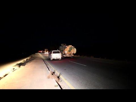 دخول رتل تركي ليلاً الى محافظة إدلب في شمال غرب سوريا