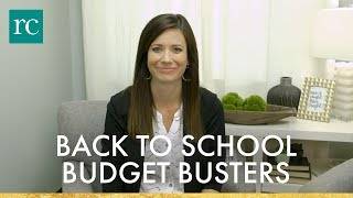 Back to School Budget Busters
