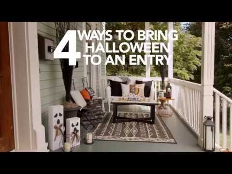 HGTV® 4 Ways to Bring Halloween to Life in an Entryway