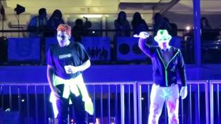 Donnie, Jonathan and Danny dance to now that we found Love..on Neon Night at NKOTB-Cruise 2016
