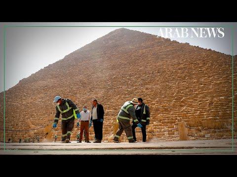 Coronavirus: Egypt disinfects the pyramids of Giza