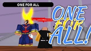 GETTING One For All! | Plus Ultra | ROBLOX