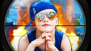 ANGRIEST KID EVER TROLLED IN 1 VS 1! (Black Ops 3 Trolling)