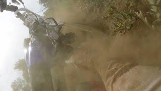 Dirt bike crash riding my YZ250F at Rampart Range Colorado