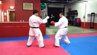 Shotokan Karate Kumite Sparring Technique: Leg Sweep Take Down for Karate / MMA