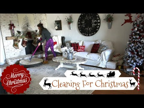 CHRISTMAS CLEAN WITH ME | CLEANING MOTIVATION | Momma from scratch
