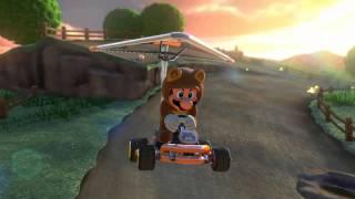 Wii U - Mario Kart 8 - (Wii) Moo Moo Meadows (Ft. RoboRager1, & Matt123)