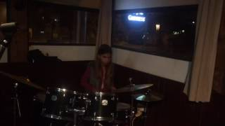 Michelle on the drums