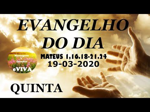 EVANGELHO DO DIA 19/03/2020 Narrado e Comentado - LITURGIA DIÁRIA - HOMILIA DIARIA HOJE