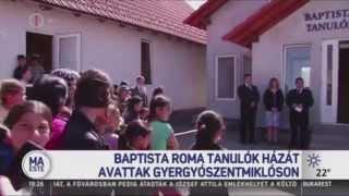 Baptista Roma tanulók házát avattak Gyergyószentmiklóson