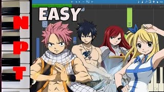 Fairy Tail Main Theme - EASY Piano Tutorial
