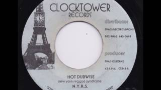 "New York Reggae Syndicate - Hot Dubwise - 7"" Clocktower Records 1975 - BRONX DUB WISE 70'S DANCEHALL"
