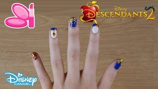 Descendants 2 | Evie's Nail Art Tutorial 💅 | Official Disney Channel UK