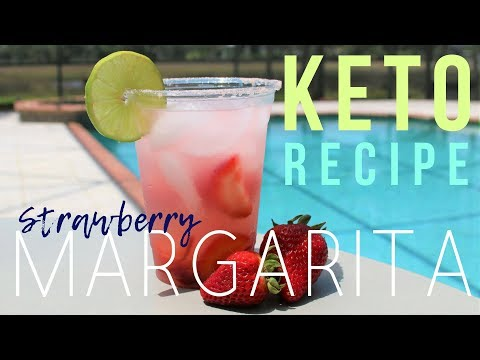 The BEST Keto Margarita Recipe! { 3 Net Carbs } Strawberry KETO-RITA | Ashley Salvatori