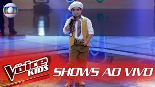 Thomas Machado canta 'Menino da Porteira' no The Voice Kids Brasil - Shows ao Vivo