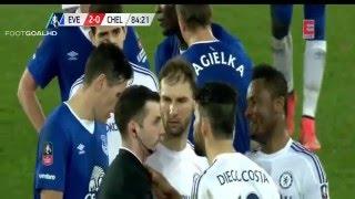 Diego Costa Bites Gareth Barry Chelsea vs Everton 0-2 FA Cup 2016