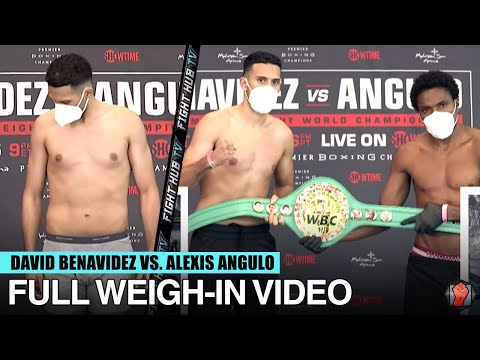 DAVID BENAVIDEZ LOSES TITLE ON SCALE! | FULL BENAVIDEZ VS ANGULO WEIGH-IN