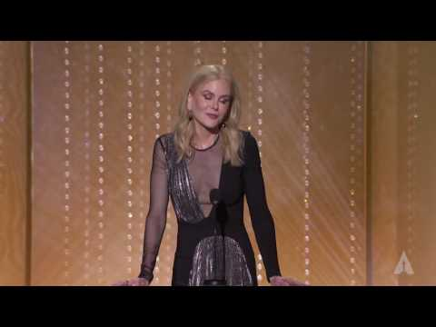 Nicole Kidman honors Anne V. Coates at the 2016 Governors Awards