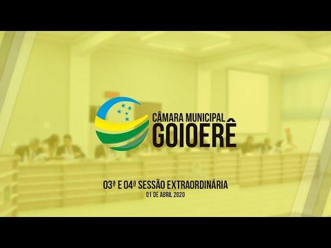 Vídeo na íntegra da Sessão Extraordinária da Câmara Municipal de Goioerê dessa quarta-feira, 01
