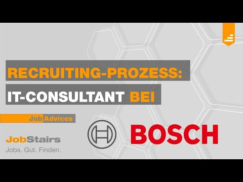Recruiting Video Bosch - IT-Consultant