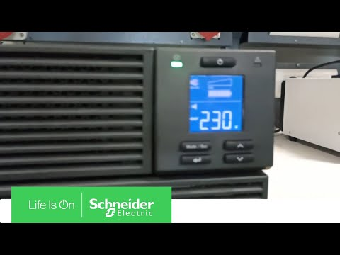 How to Initiate Self Test in UPS SRV1KUXI-IN | Schneider Electric Support