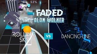 Rolling Sky & Dancing Line - Faded (Alan Walker)