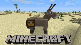 How To Use Chest/Ride on a Donkey   Minecraft 1.8