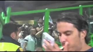 Confrontos no jogo Sporting - Guimarães