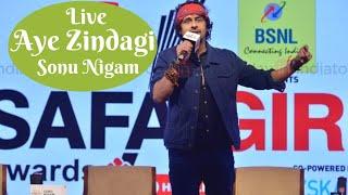Aye Zindagi Live Sonu Nigam At India Today 4th Edition of Safaigiri
