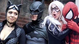 SPIDER-MAN, BATMAN vs BLACK CAT, CATWOMAN - Real Life Superhero Movie - TheSeanWardShow