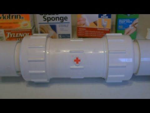 """DIY Waterproof Medicine Cabinet! - Portable """"On-The-Go"""" First-Aid Kits! - Very Durable"""