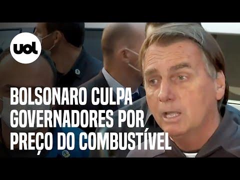 Bolsonaro diz que preço do combustível está alto e culpa governadores